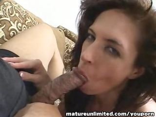 lascivious mommy go for engulfing tugjob blow job