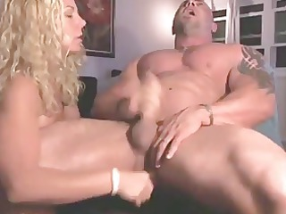 wife copulates the cum out of spouse with sex-toy
