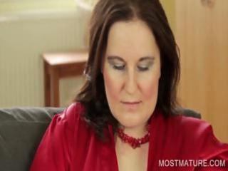 stockinged mommy showing large boobs