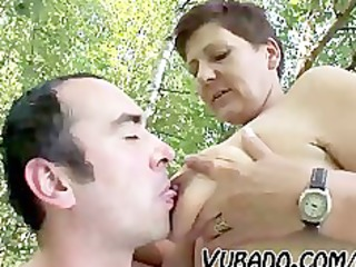 mature pair outdoor sex