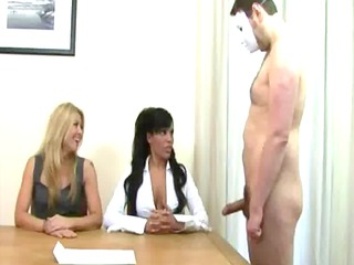 kinky milfs desire cum all over their office