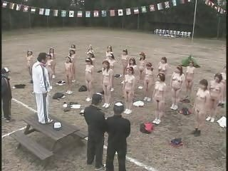 older japanese babes undress and exercise