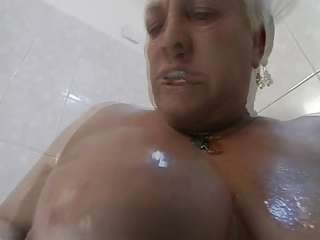 big beautiful woman granny in act