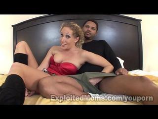 blonde milf takes large dark cock in anal video