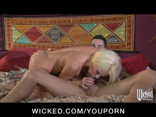 hawt blonde female-dom nikita von james is