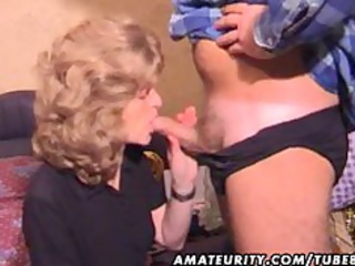 older dilettante wife homemade blow job with cum