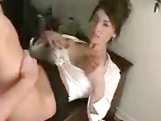 big-boob brunette hair receives drilled and