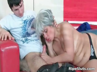 lewd older whore sucks on hard shlong