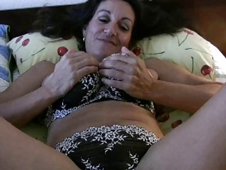 black haired breasty mother i in hot lingerie