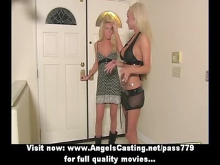 blond d like to fuck with laptop flashing pants