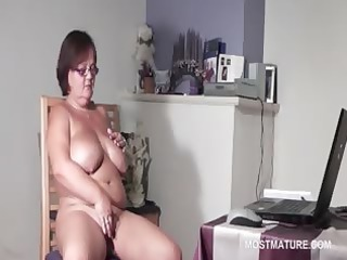 big titted aged sweetheart gratifying her horny