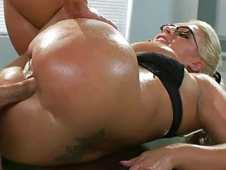 heavy boobs milf sadie swede oily ass pounded