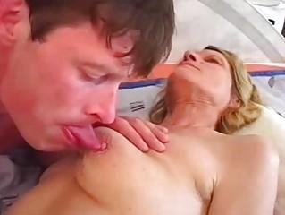 juvenile buck rides a enjoyable older pussy