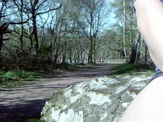 pandora bonks her glass dildo in sherwood forest