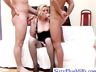watch granny doing a double dick