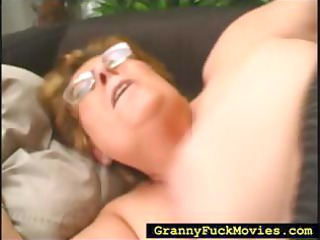 granny rolled over to receive fucked