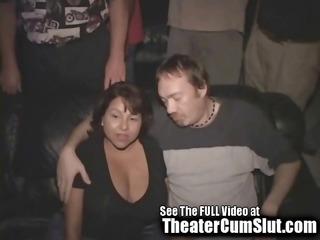 large titty latin chick milf receives gang banged