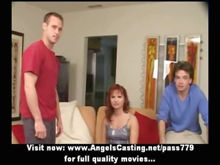 redhead mother i as bride does orall-service for