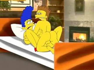 the simpsons,marge gets banged by delivery chap