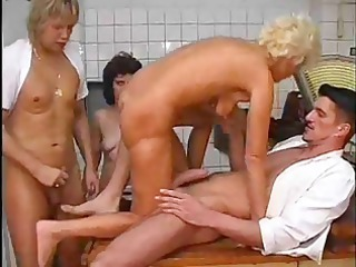 hawt milfs and juvenile studs do threesome