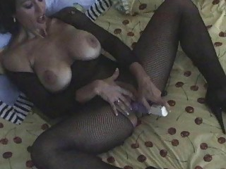 darksome haired milf in body stocking