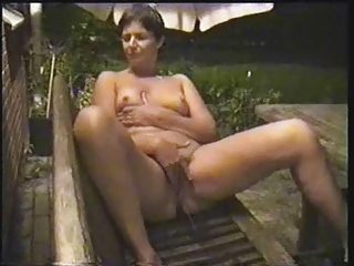 wife masturbate outside. home made