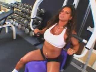 sexy aged breasty brunette hair bodybuilder banged
