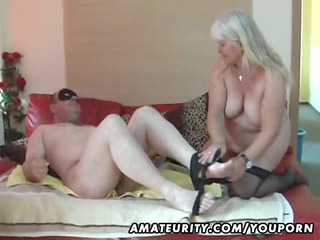 chubby non-professional wife sucks and bonks on