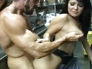 hot darksome haired milf gets her hairless nookie