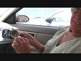 granny shirley receives new dildo