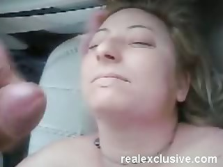 facial for my wife serena in our car