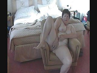 watch my older wife jerk off her pussy