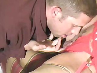 hot golden-haired granny cougar bangs youthful man