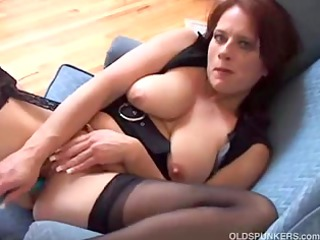 nice-looking aged amateur has large sexy mambos