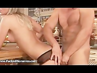 blonde mommy receives anally slammed unfathomable