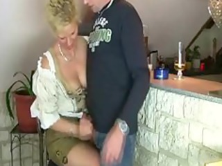 older woman gets screwed by three-some stranger