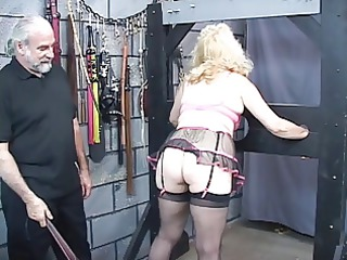 busty, mature blond acquires her ass whipped in